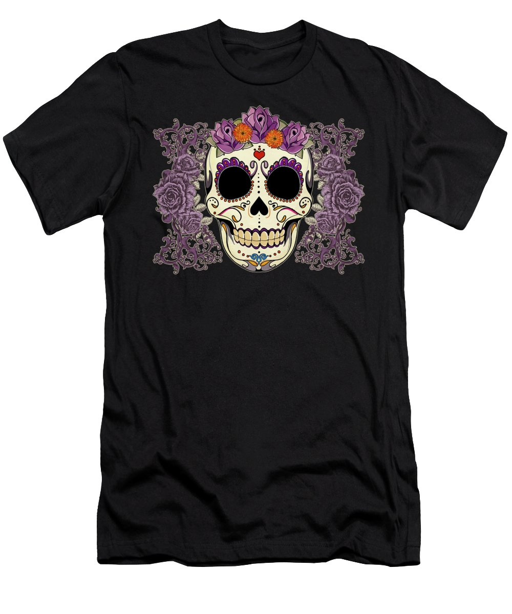 Purple Digital Art T-Shirts