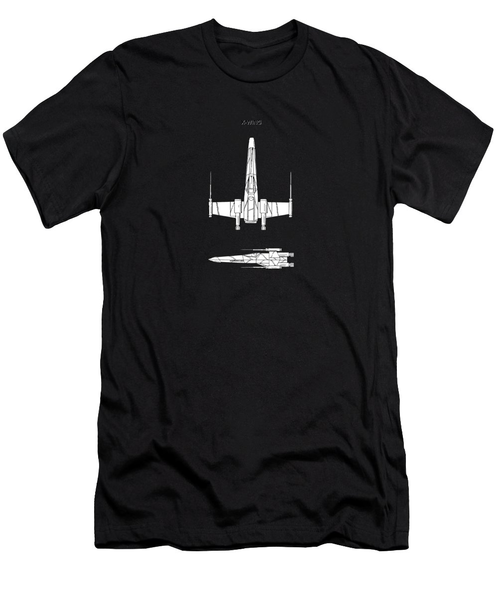 X-wing Men's T-Shirt (Athletic Fit) featuring the photograph Star Wars X-wing Fighter by Mark Rogan