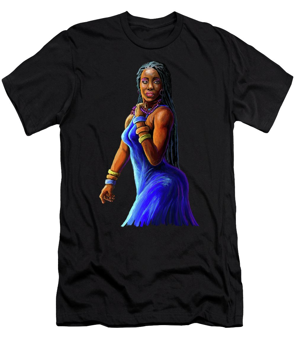 Blue Dress Paintings T-Shirts