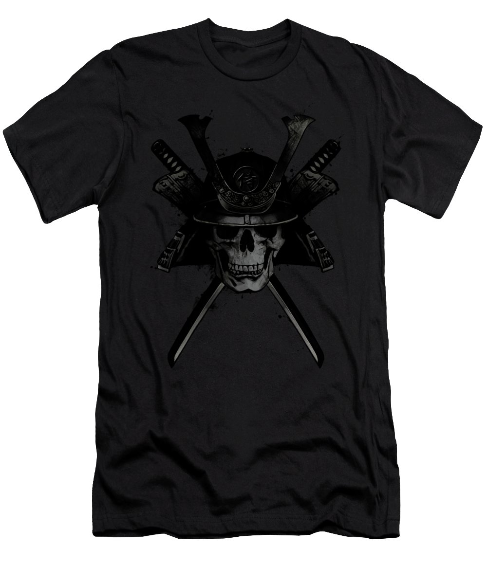 Samurai T-Shirt featuring the digital art Samurai Skull by Nicklas Gustafsson