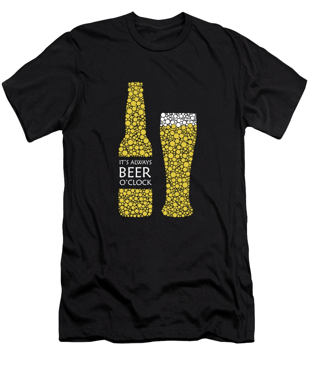 Beer Men's T-Shirt (Athletic Fit) featuring the photograph Its Always Beer Oclock by Mark Rogan
