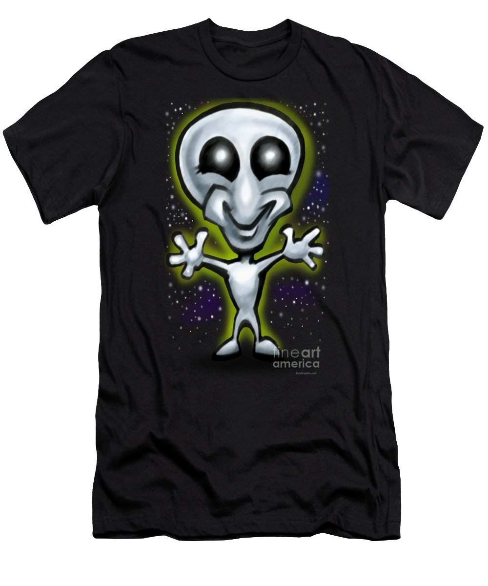Alien Men's T-Shirt (Athletic Fit) featuring the digital art Alien by Kevin Middleton