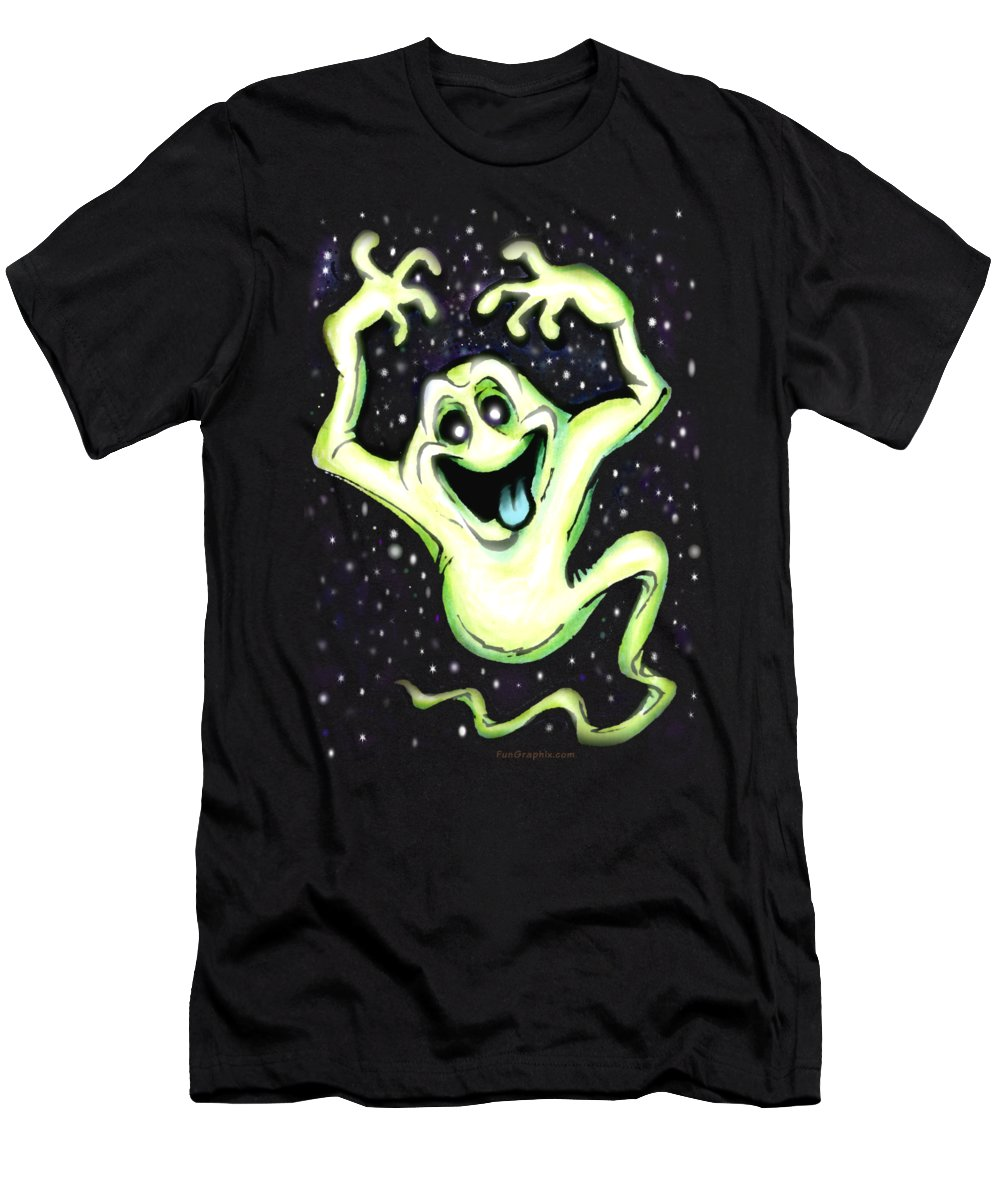 Halloween Men's T-Shirt (Athletic Fit) featuring the painting Ghost by Kevin Middleton
