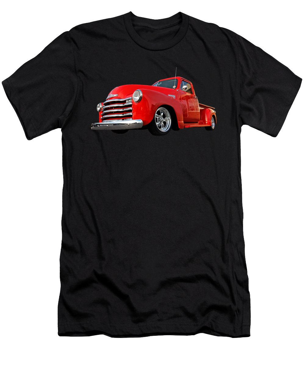 Chevrolet Truck T-Shirt featuring the photograph 1952 Chevrolet Truck at the Diner by Gill Billington