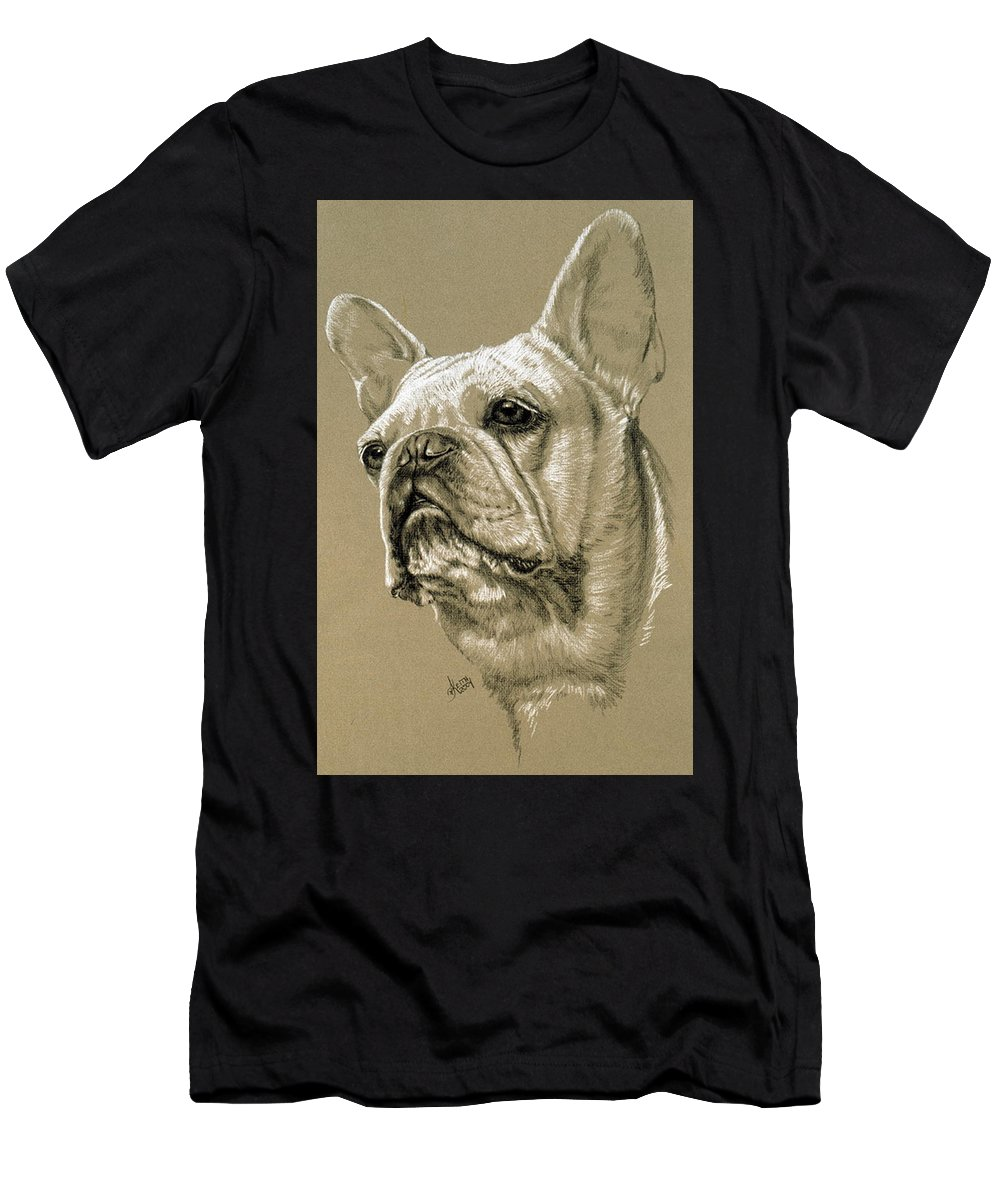 Dog Men's T-Shirt (Athletic Fit) featuring the drawing French Bulldog by Barbara Keith