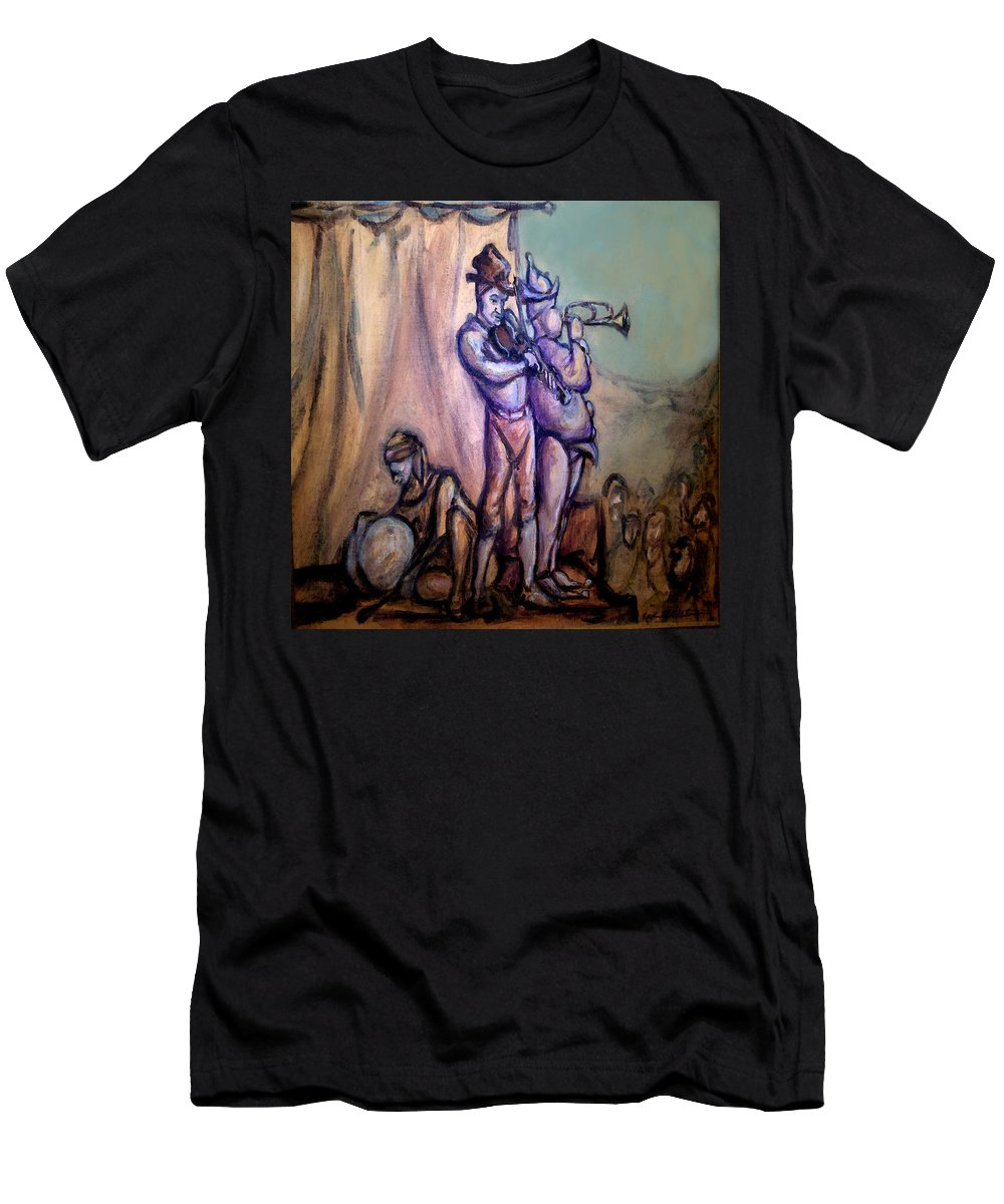 Gypsies Men's T-Shirt (Athletic Fit) featuring the painting Gypsies Part 2 by Kevin Middleton