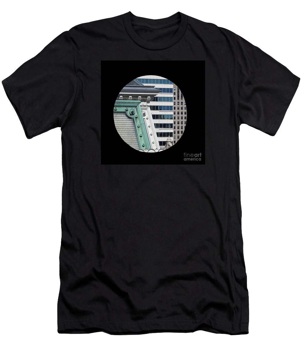Philadelphia Men's T-Shirt (Athletic Fit) featuring the photograph As A Bird Sees Philly by Ann Horn