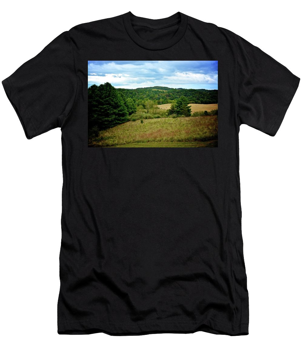 Landscape Men's T-Shirt (Athletic Fit) featuring the photograph As Far As The Eye Can See by Amy Damron