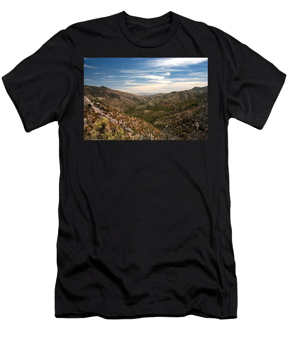 Mountains Men's T-Shirt (Athletic Fit) featuring the photograph As Far As The Eye Can See by Joe Kozlowski