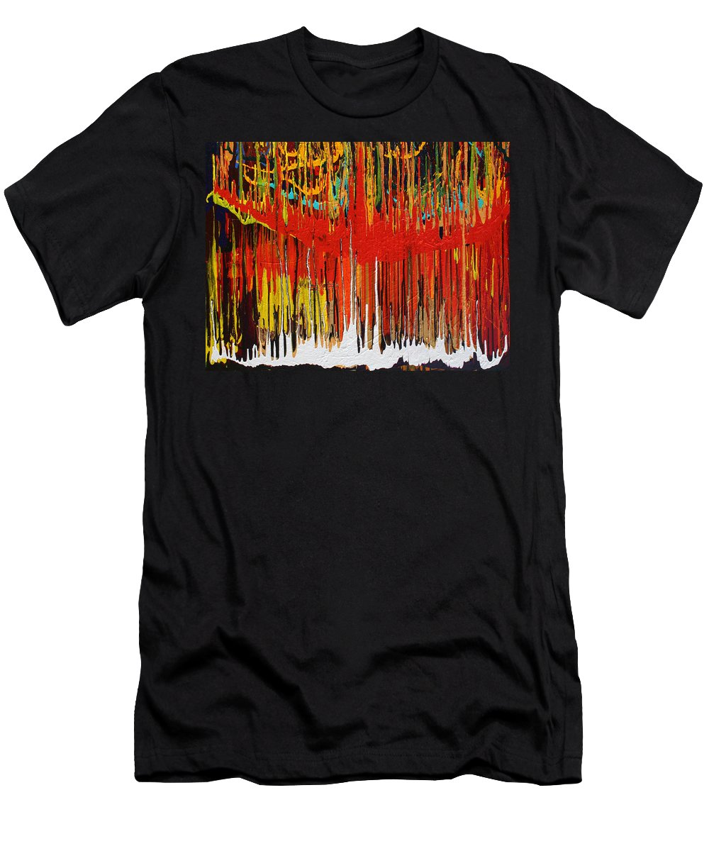 Fusionart Men's T-Shirt (Athletic Fit) featuring the painting Ascension by Ralph White