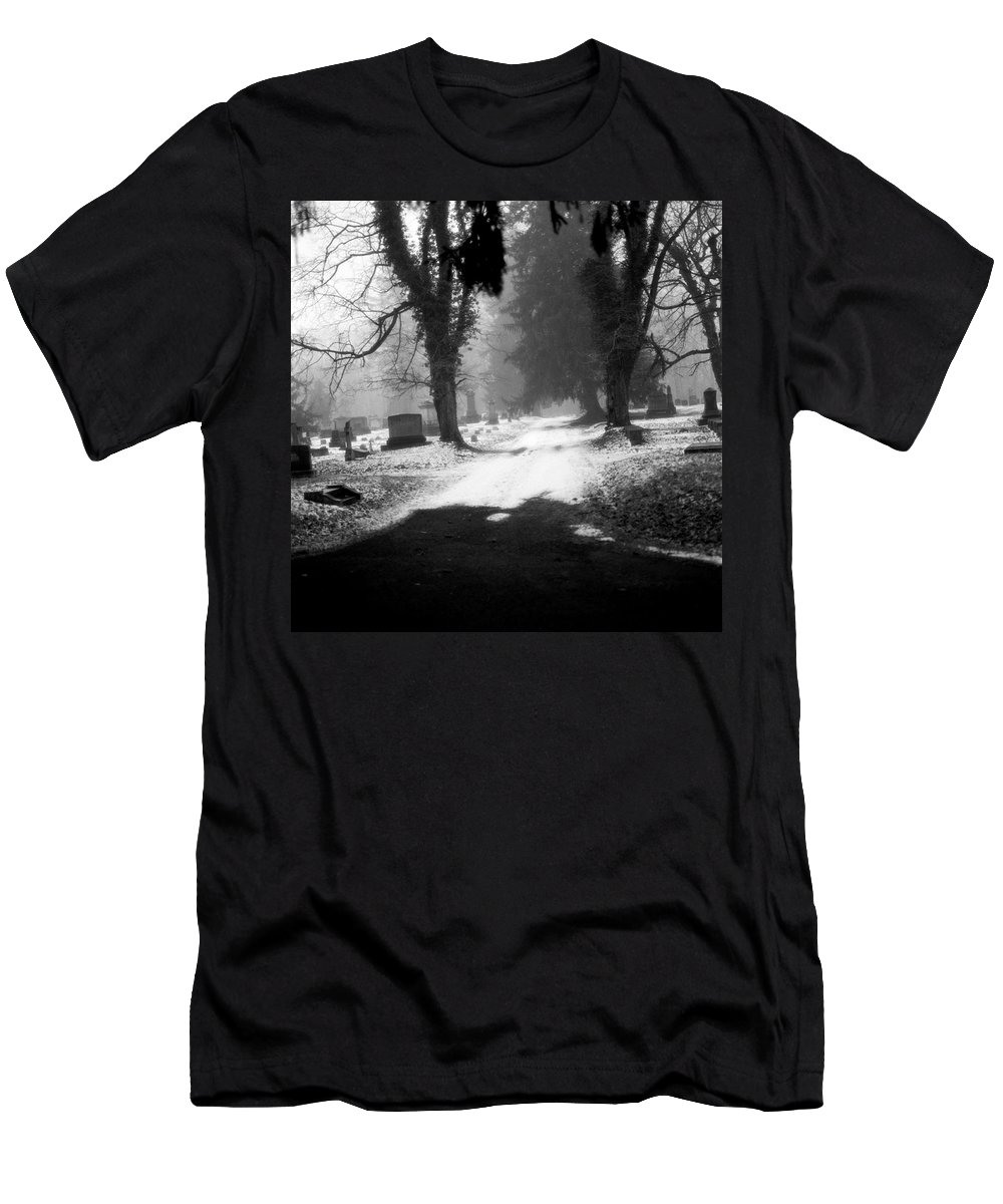 Photograph Men's T-Shirt (Athletic Fit) featuring the photograph Ashland Cemetery by Jean Macaluso