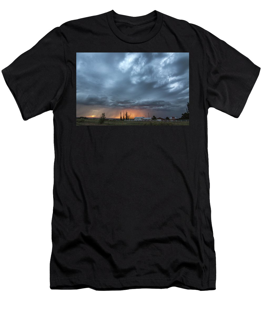 Cloudscape Men's T-Shirt (Athletic Fit) featuring the photograph Asperitas Sunset by Amy M Howard