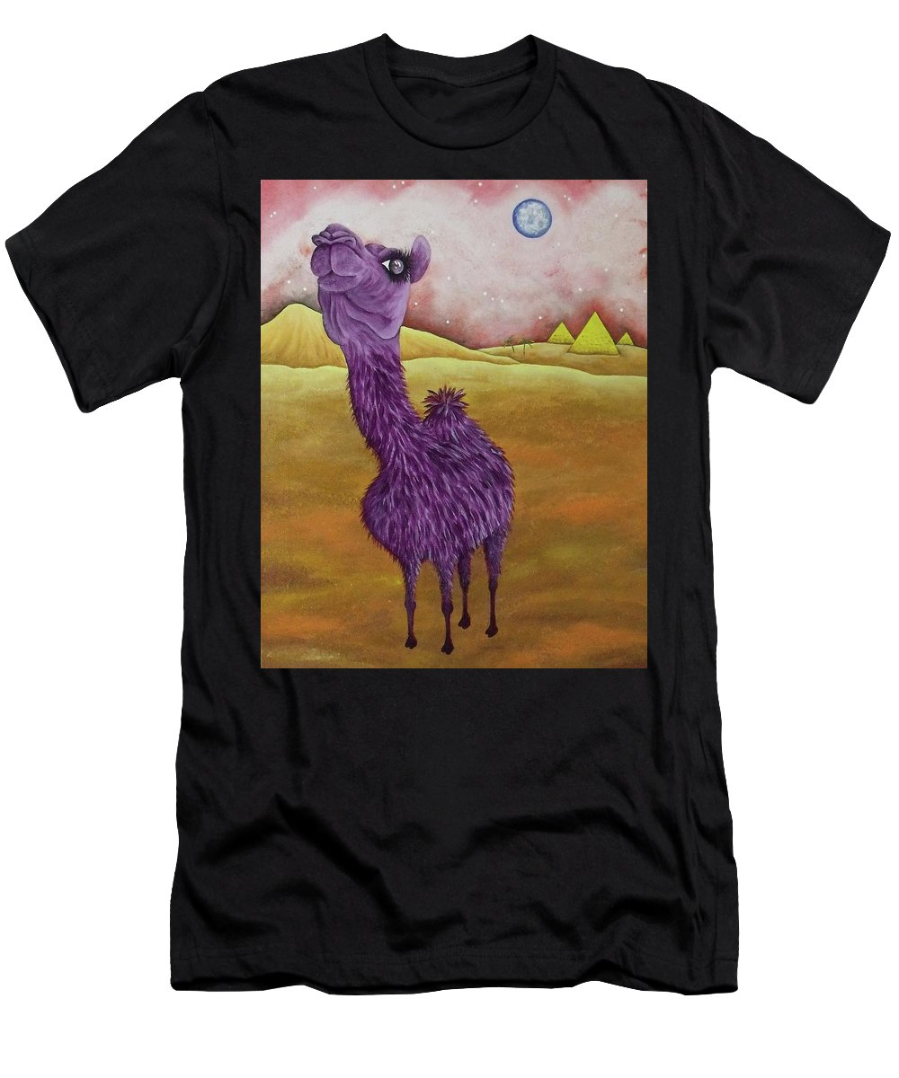 Desert Men's T-Shirt (Athletic Fit) featuring the painting Aspiration by Stefanie Beauregard