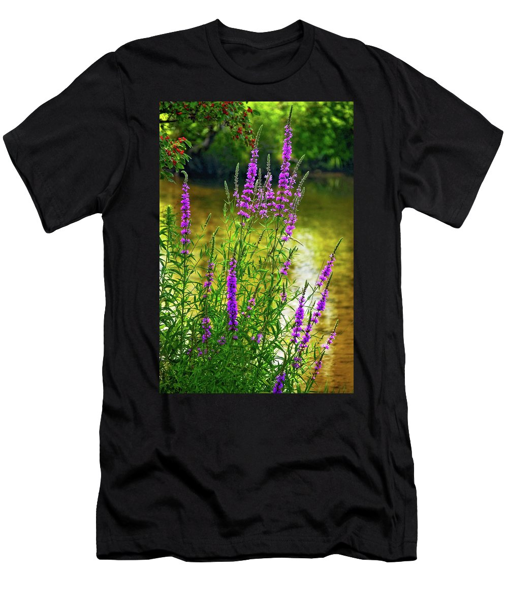 Wildflower Men's T-Shirt (Athletic Fit) featuring the photograph Aspirations by Steve Harrington