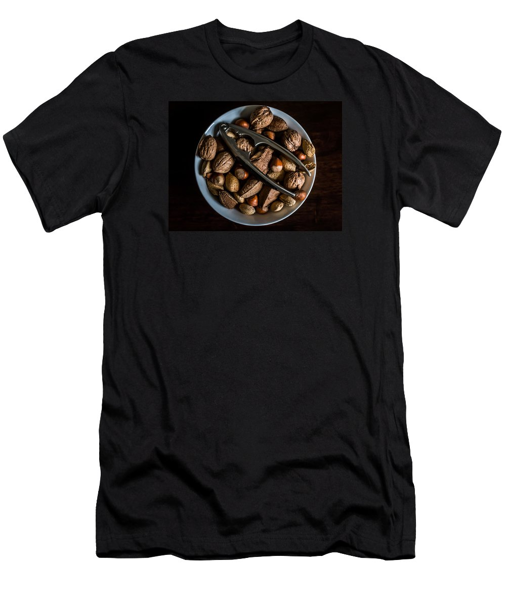 Food Men's T-Shirt (Athletic Fit) featuring the photograph Assorted Nuts by Kaleidoscopik Photography