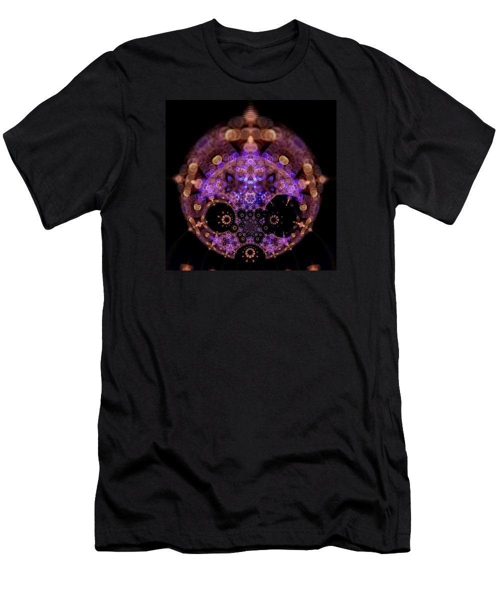 Mandala Men's T-Shirt (Athletic Fit) featuring the digital art Astralightmandala by Robert Thalmeier