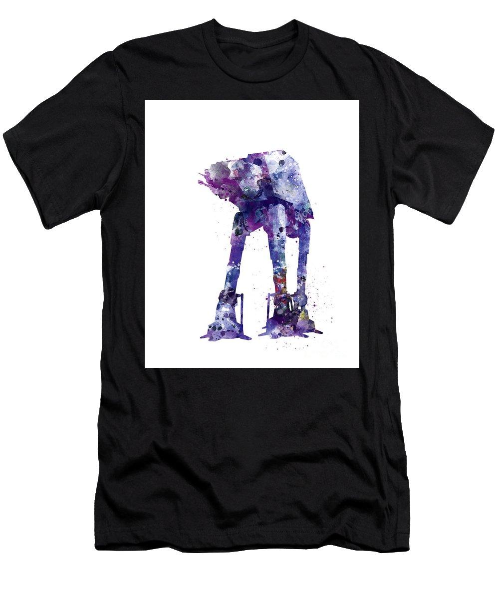 At-at Walker Men's T-Shirt (Athletic Fit) featuring the mixed media At-at by Monn Print