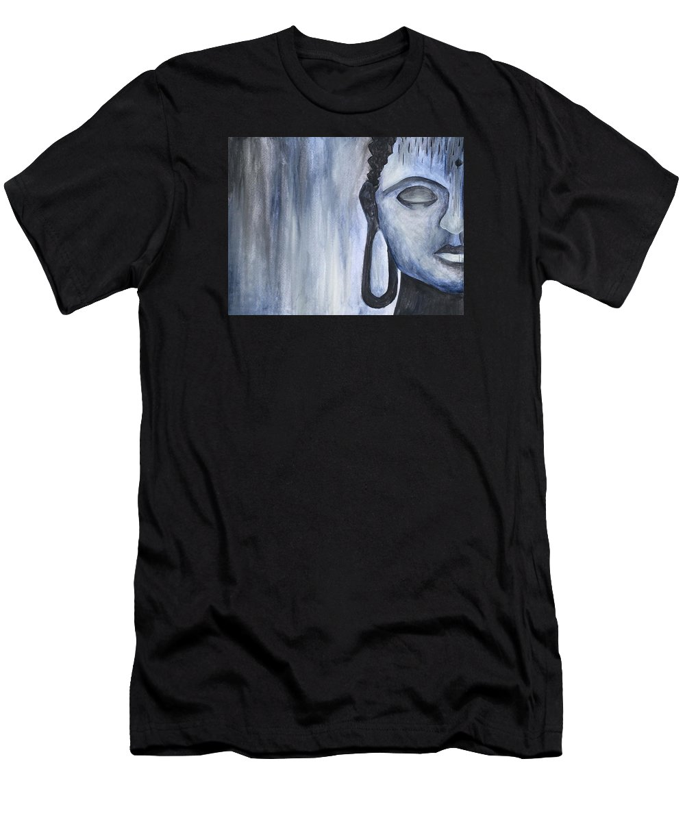 Buddha Men's T-Shirt (Athletic Fit) featuring the painting At Ease by Noah Babcock