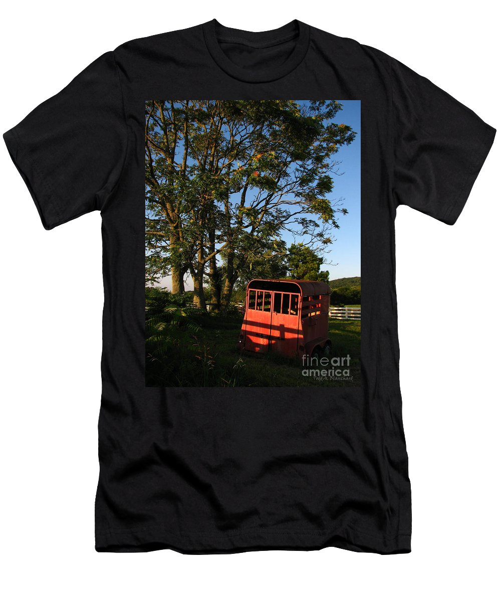 Landscape Men's T-Shirt (Athletic Fit) featuring the photograph At Rest by Todd A Blanchard