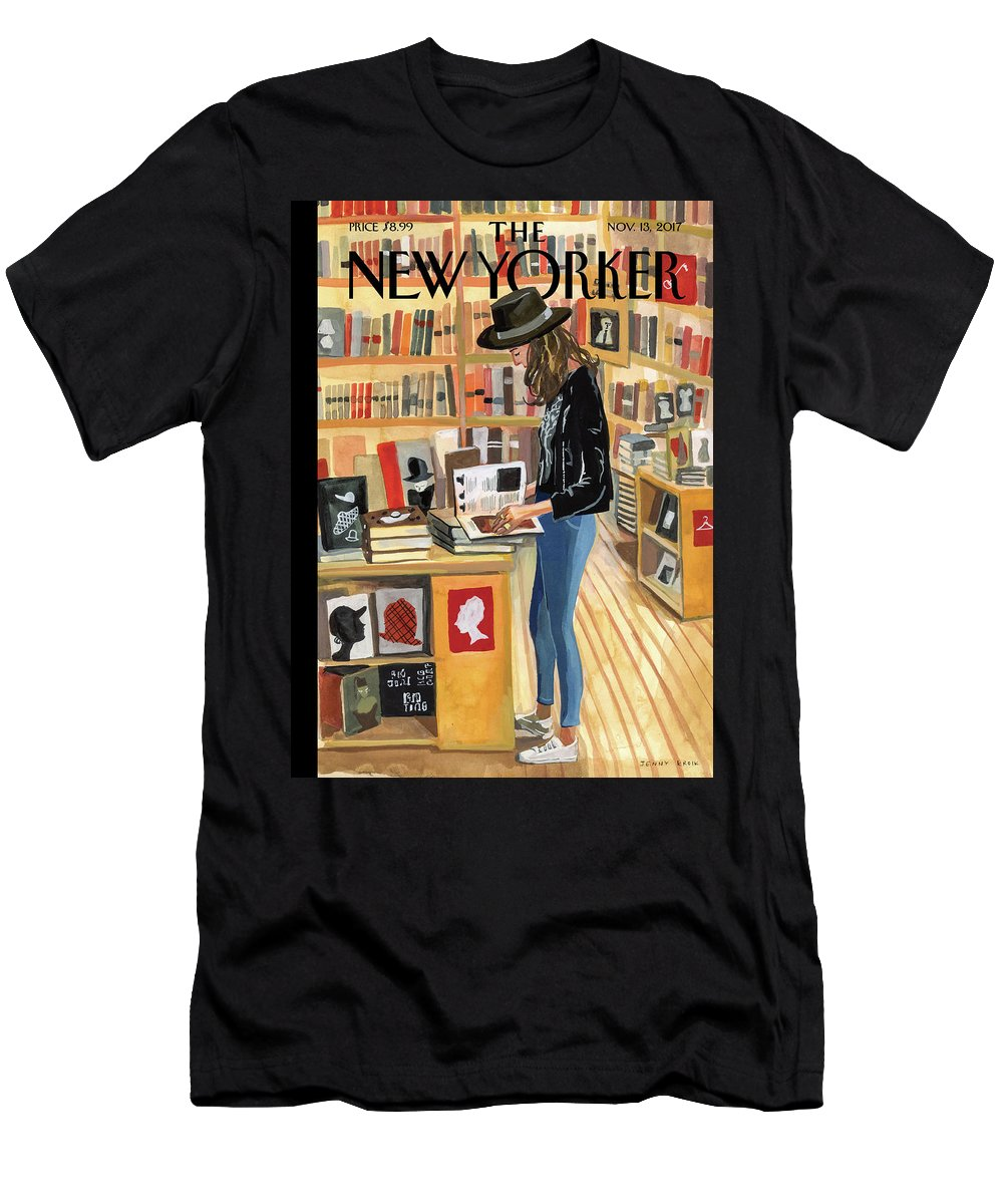 At The Strand T-Shirt featuring the painting At The Strand by Jenny Kroik