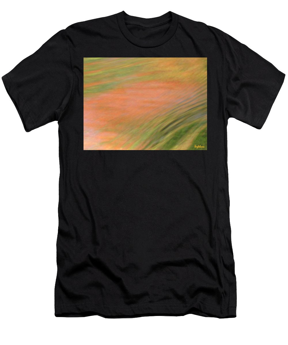 Abstract Art Men's T-Shirt (Athletic Fit) featuring the photograph At The Subtle Feeling Level by Sybil Staples