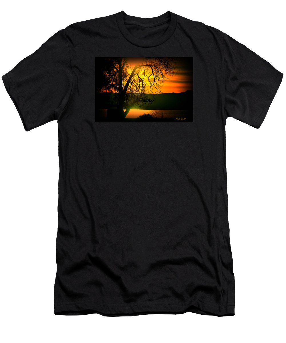 Men's T-Shirt (Athletic Fit) featuring the photograph Atardecer Salton Sea by Anatole Kortscheff