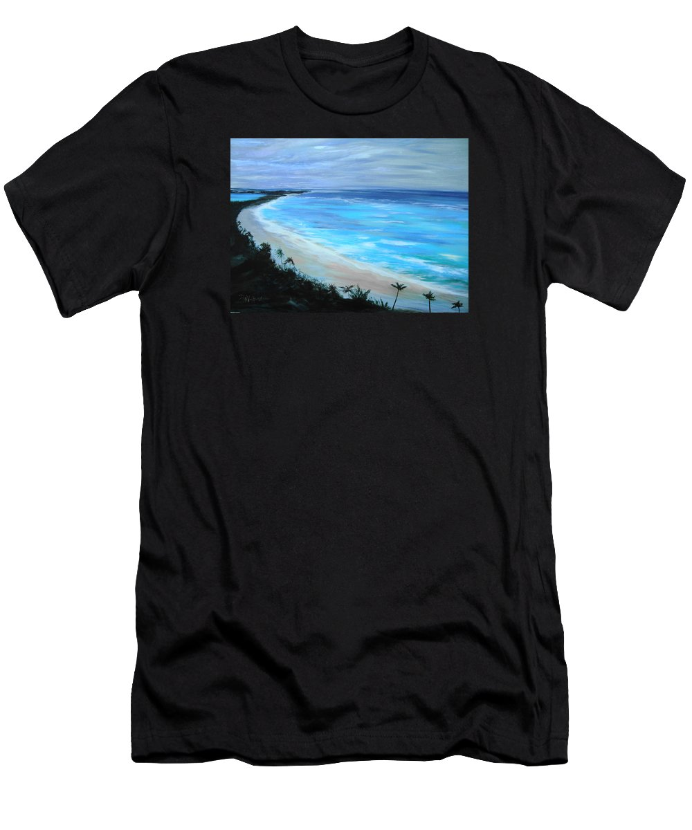 Ocean Men's T-Shirt (Athletic Fit) featuring the painting Atlantis by Jan VonBokel