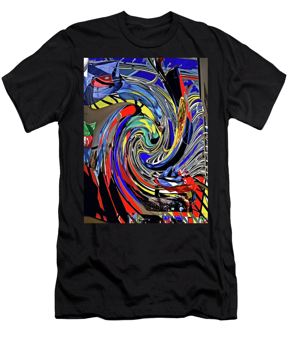 Abstract Men's T-Shirt (Athletic Fit) featuring the photograph Atrium by Ian MacDonald