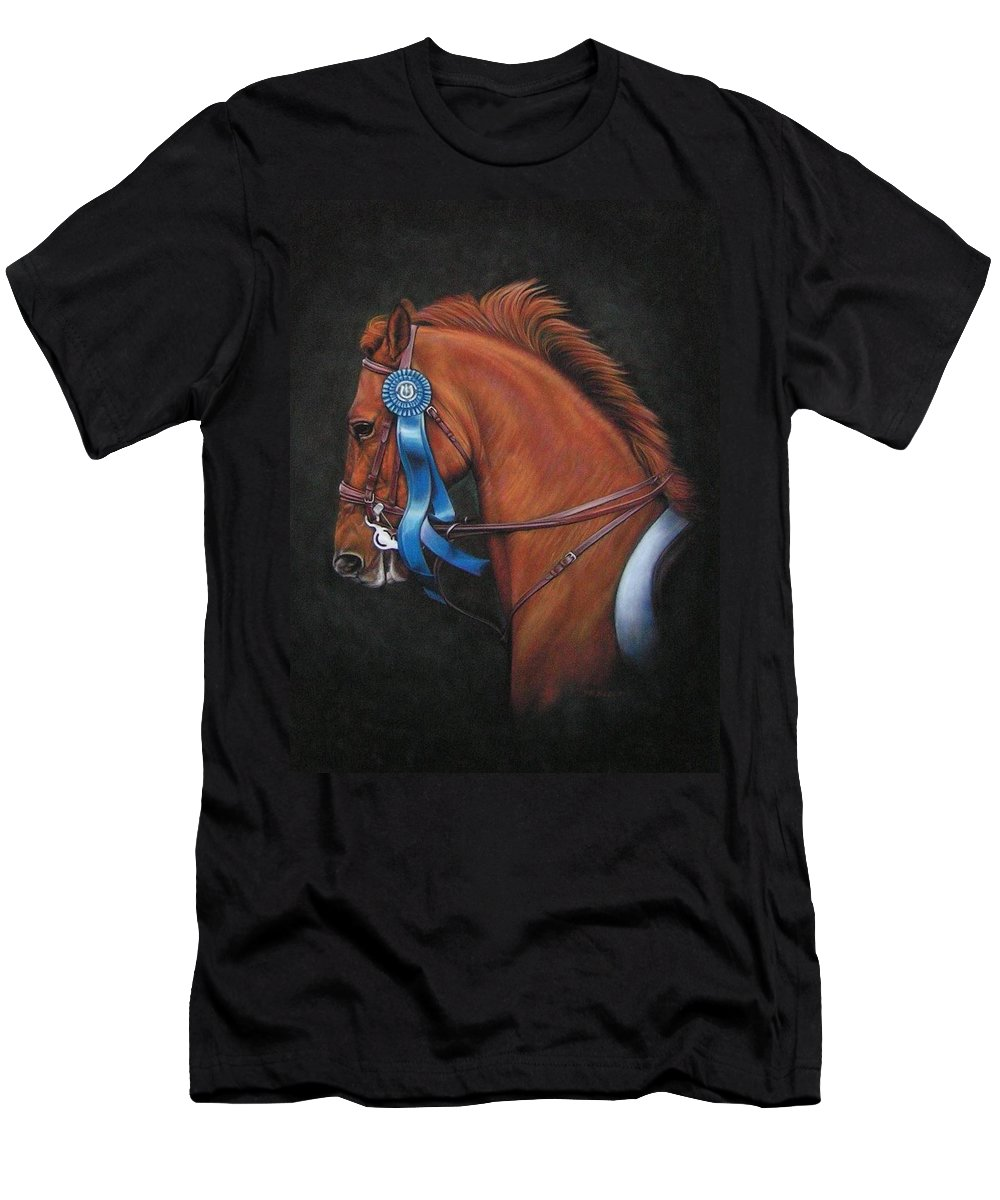 Horse Men's T-Shirt (Athletic Fit) featuring the painting Attitude by Yvonne Hazelton