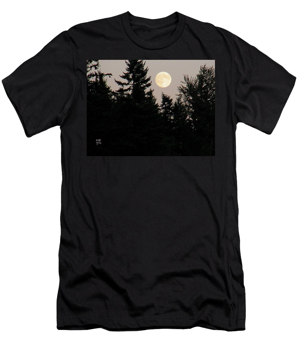 August Men's T-Shirt (Athletic Fit) featuring the photograph August Full Moon - 1 by Shirley Heyn