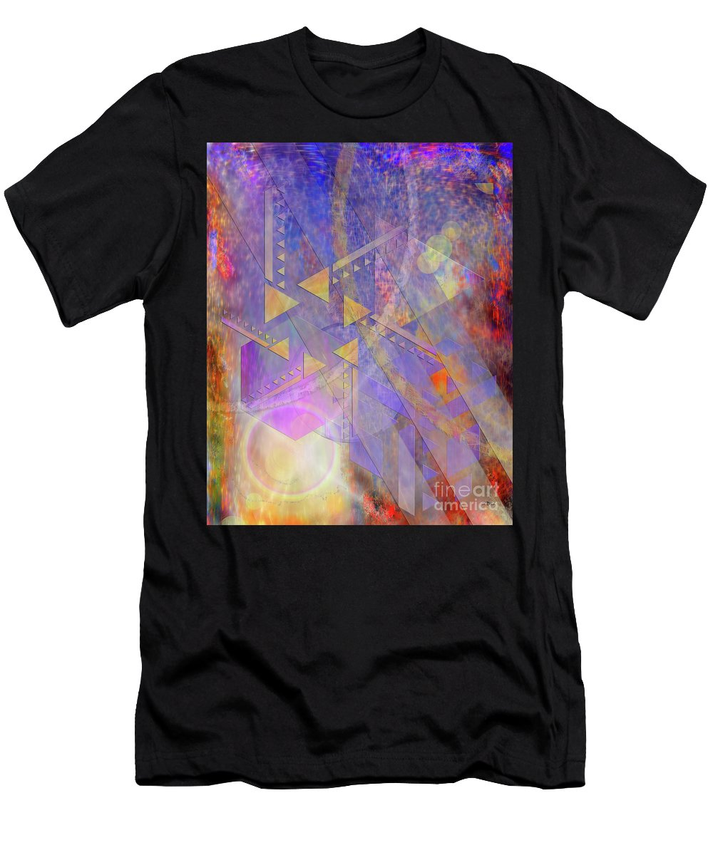 Aurora Aperture Men's T-Shirt (Athletic Fit) featuring the digital art Aurora Aperture by John Beck