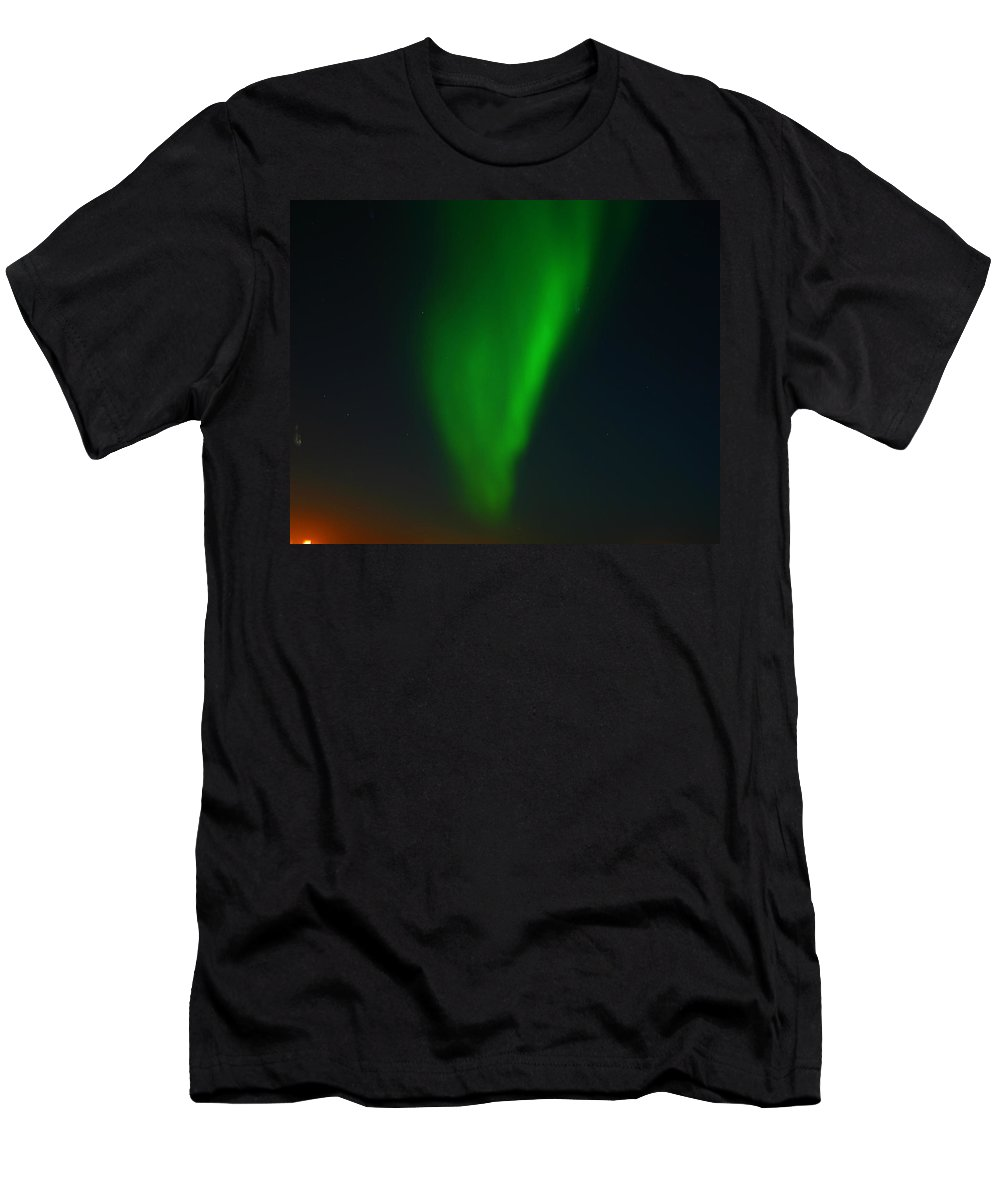 Aurora Borealis Men's T-Shirt (Athletic Fit) featuring the photograph Aurora Borealis by Anthony Jones