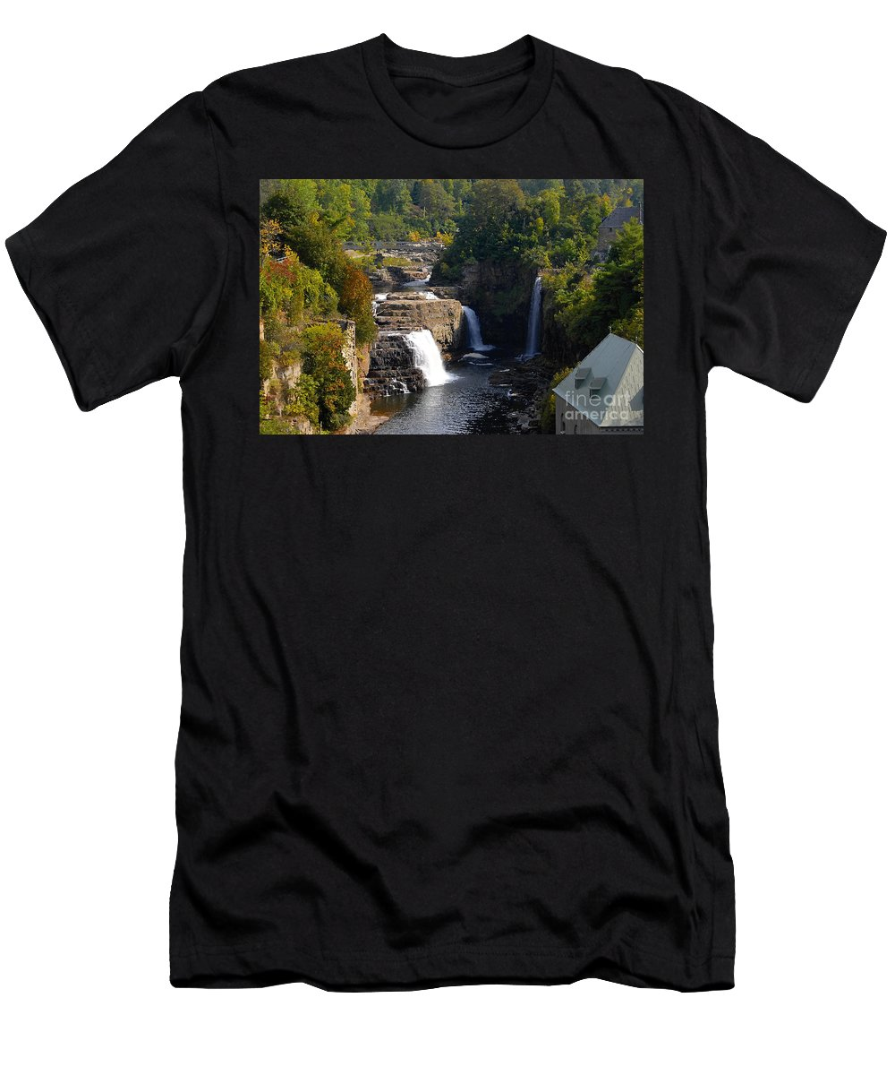 Ausable River Men's T-Shirt (Athletic Fit) featuring the photograph Ausable Falls by David Lee Thompson