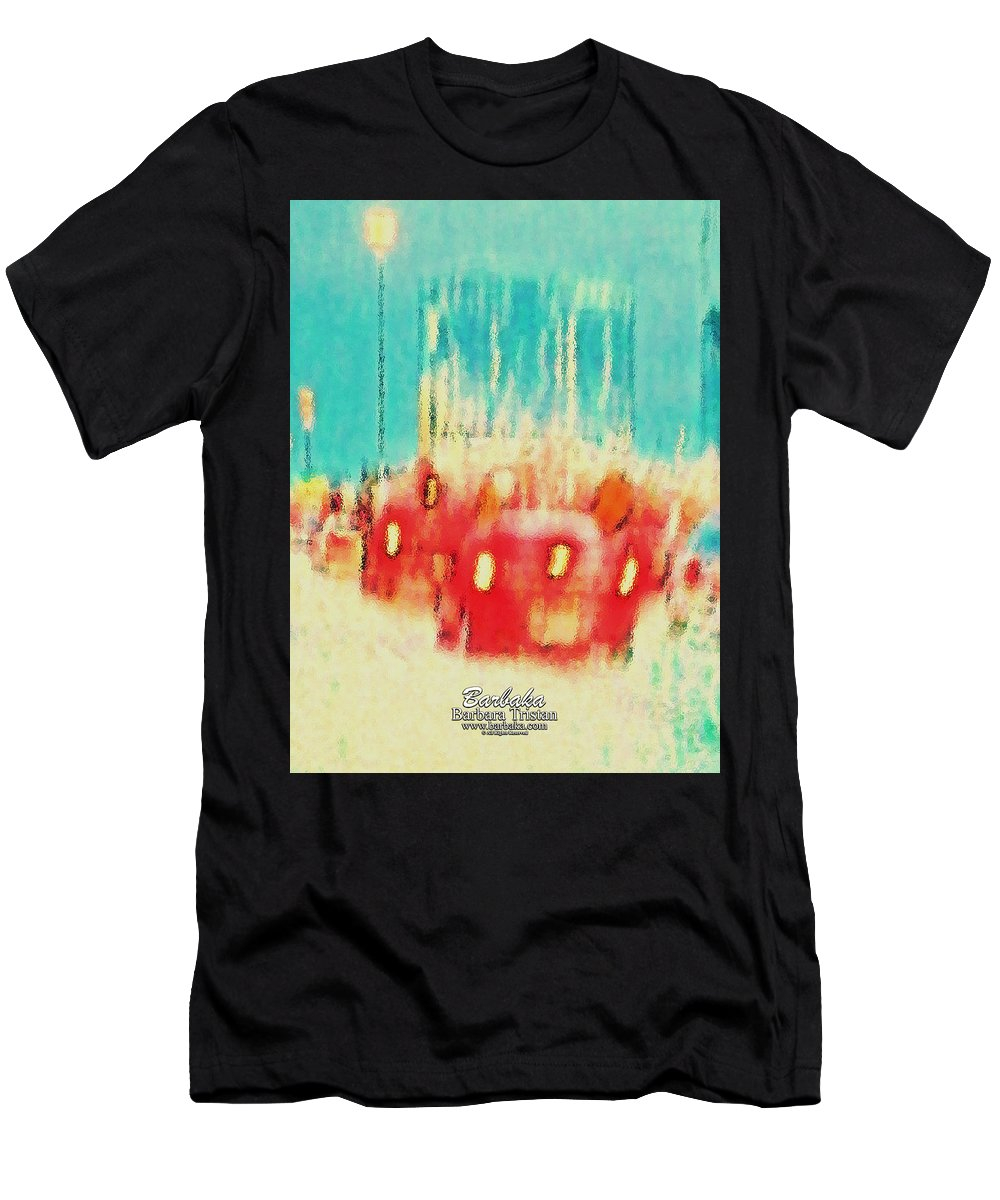 Art Men's T-Shirt (Athletic Fit) featuring the photograph Austin Traffic by Barbara Tristan