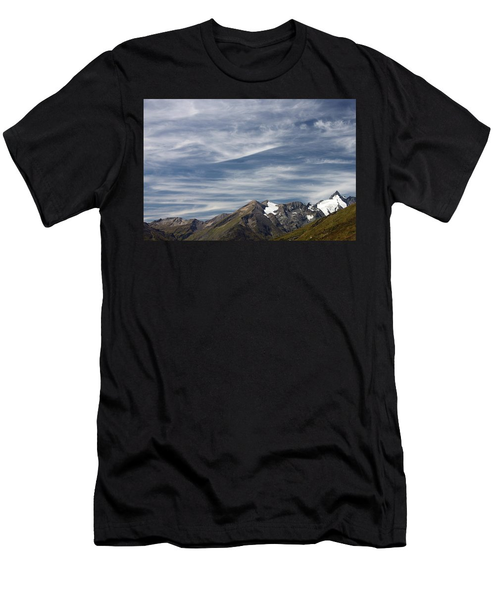 Mountain Men's T-Shirt (Athletic Fit) featuring the photograph Austrian Sky by Deborah Brodie