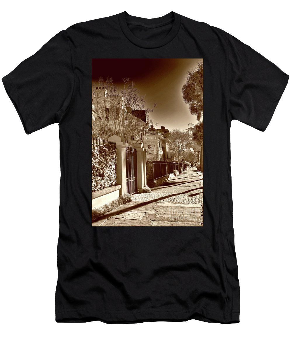 Scenic Men's T-Shirt (Athletic Fit) featuring the photograph Authentic Charleston by Skip Willits