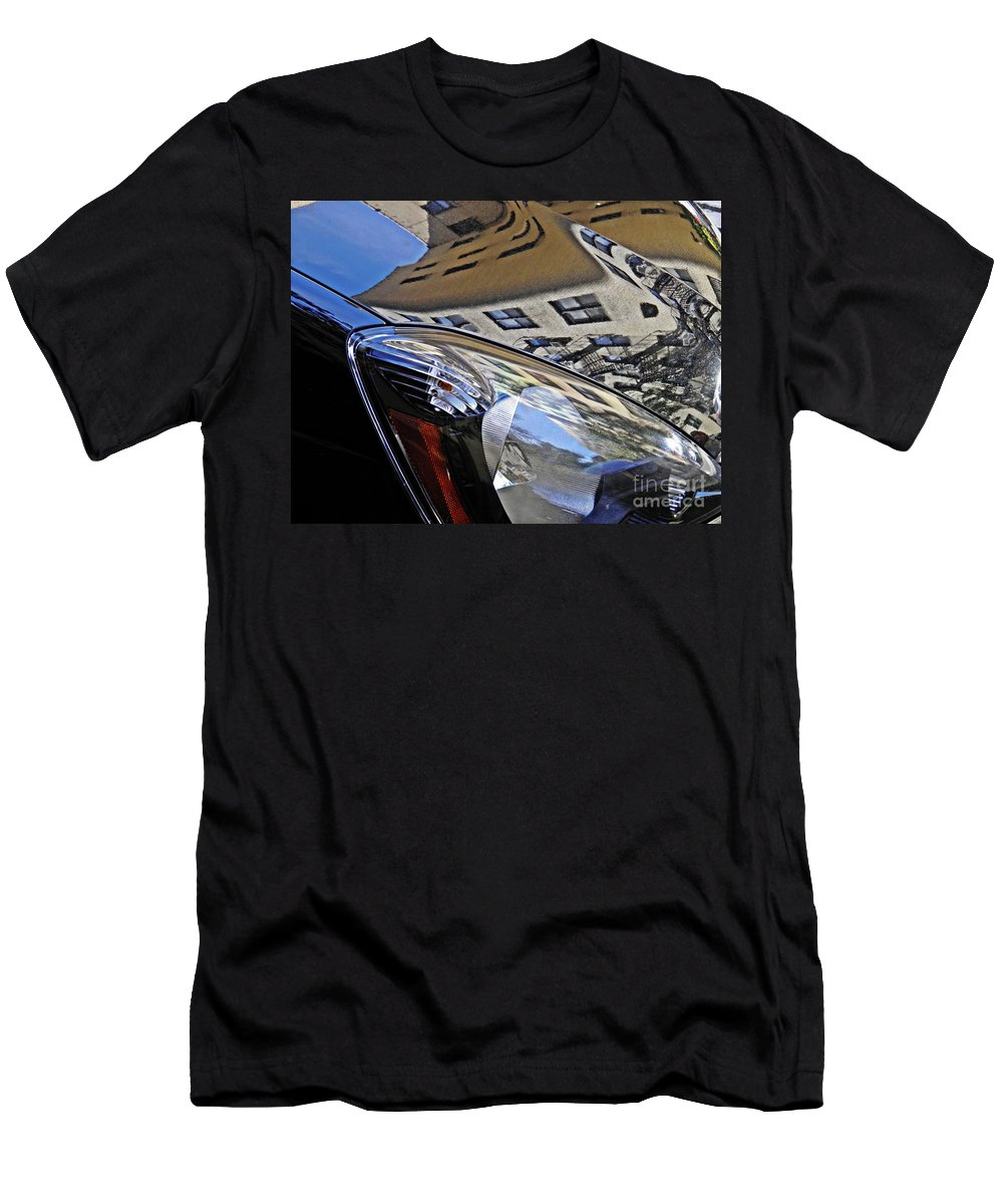 Headlight Men's T-Shirt (Athletic Fit) featuring the photograph Auto Headlight 178 by Sarah Loft