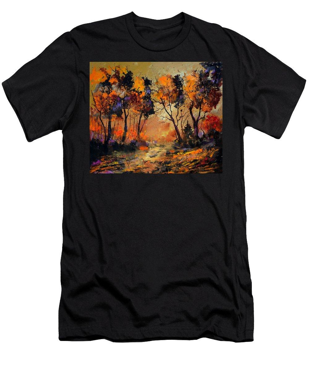 Landscape T-Shirt featuring the painting Autumn 766130 by Pol Ledent