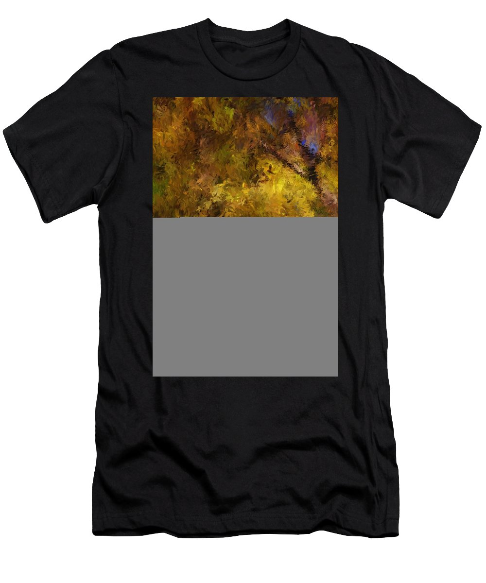 Abstract Digital Painting Men's T-Shirt (Athletic Fit) featuring the digital art Autumn Abstract by David Lane