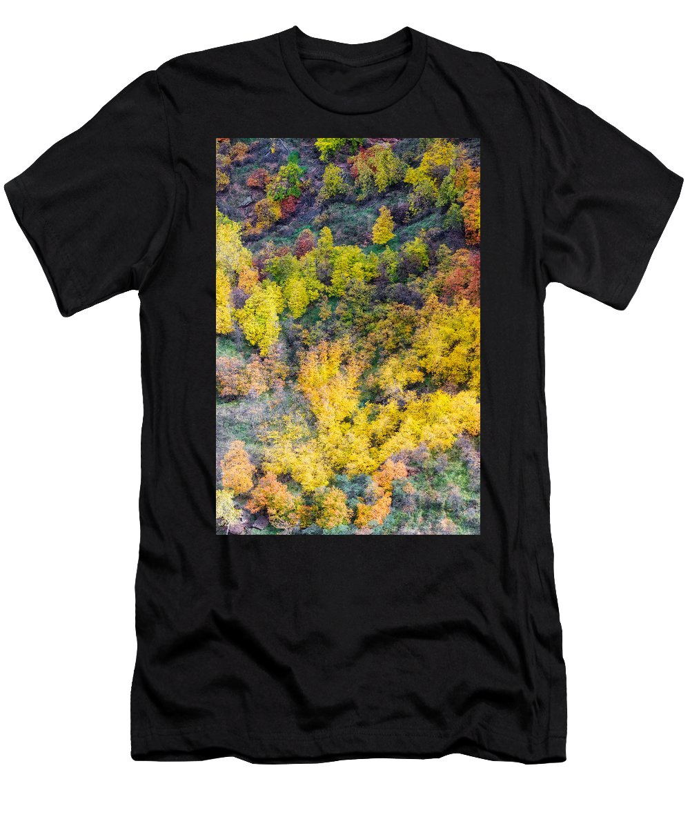 North Men's T-Shirt (Athletic Fit) featuring the photograph Autumn Background by Charles Wollertz