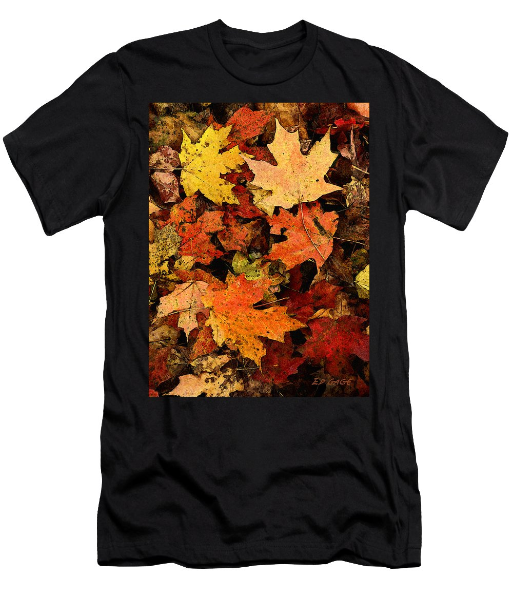 Autumn Men's T-Shirt (Athletic Fit) featuring the photograph Autumn Color by Ed A Gage