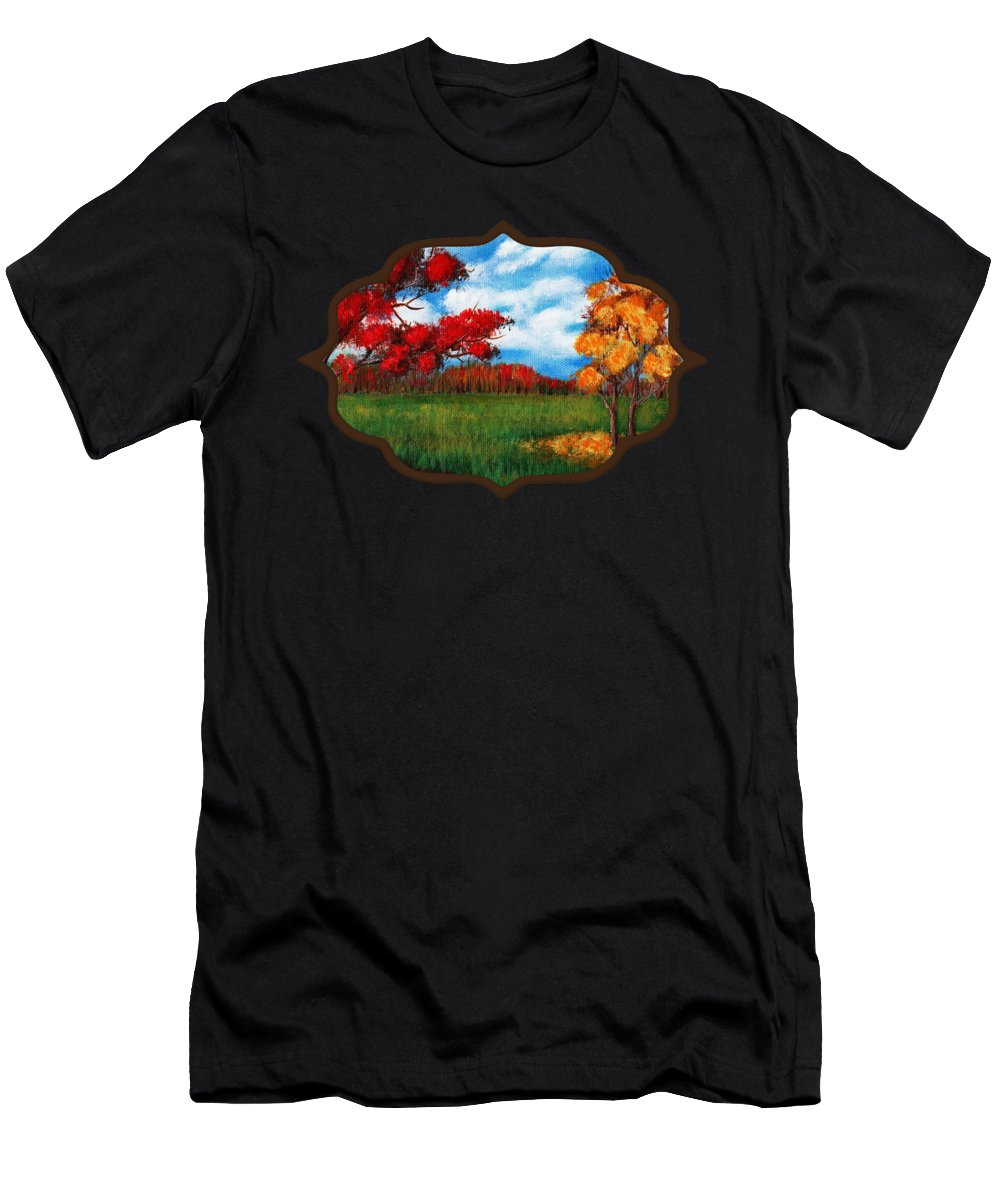 Autumn Men's T-Shirt (Athletic Fit) featuring the painting Autumn Colors by Anastasiya Malakhova