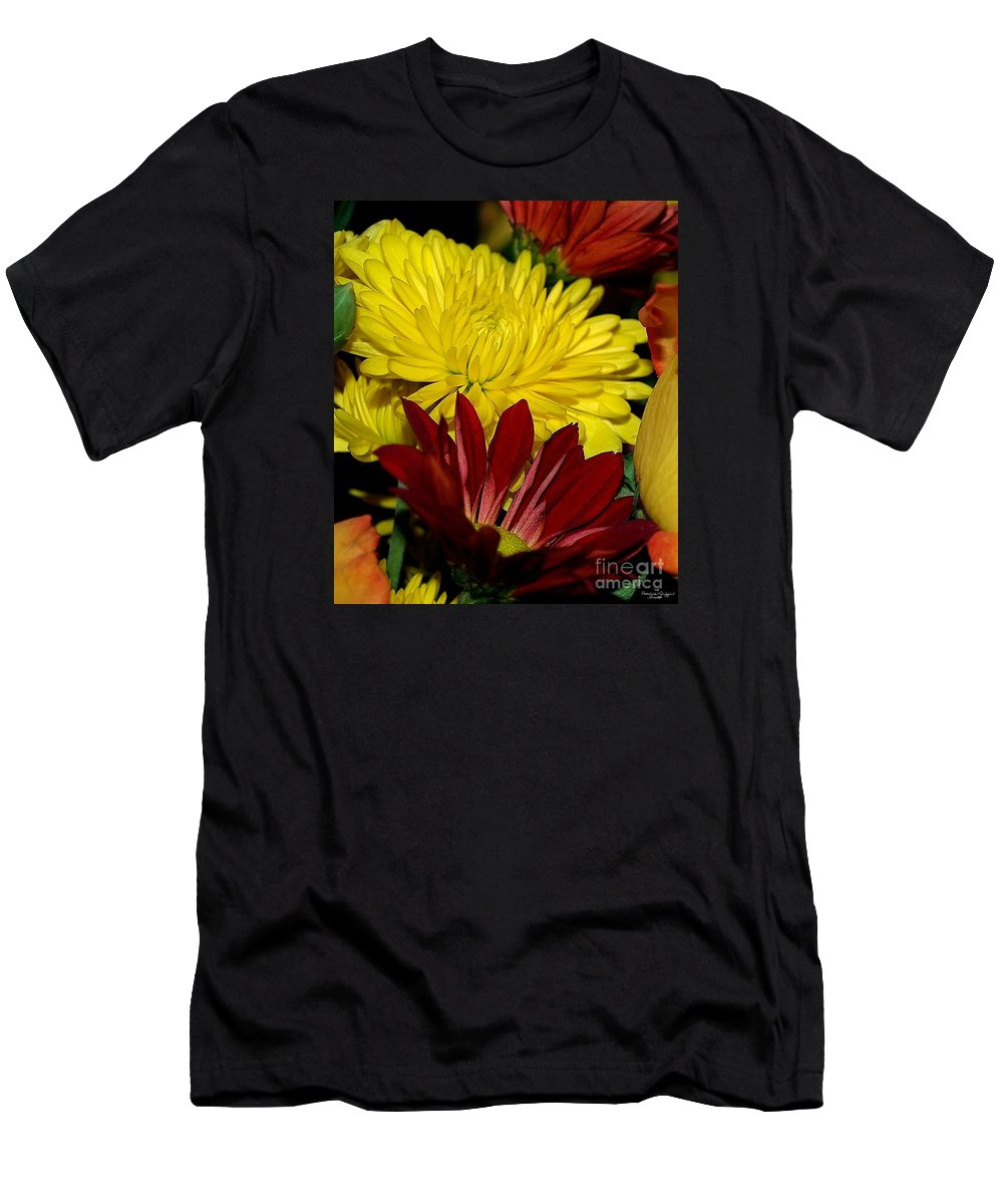 Chrysanthemum Photography Men's T-Shirt (Athletic Fit) featuring the photograph Autumn Colors by Patricia Griffin Brett