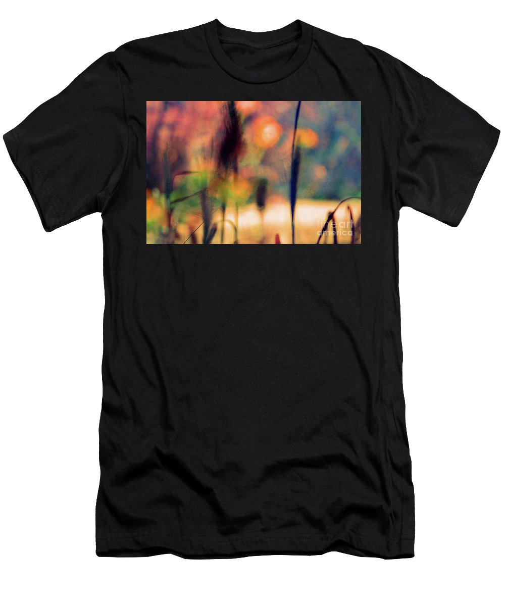 Nature Men's T-Shirt (Athletic Fit) featuring the photograph Autumn Dreams Abstract by Karen Adams