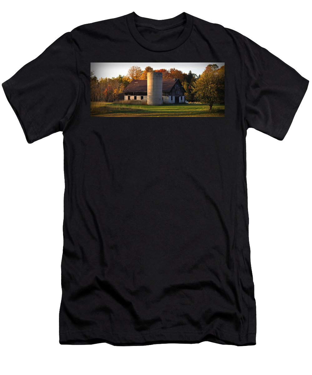 Fall Men's T-Shirt (Athletic Fit) featuring the photograph Autumn Evening by Tim Nyberg