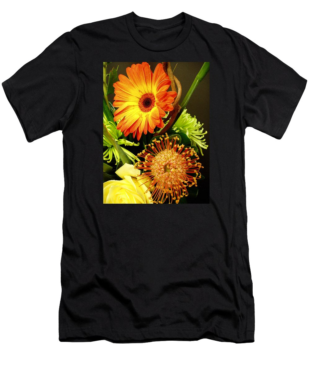 Autumn Men's T-Shirt (Athletic Fit) featuring the photograph Autumn Flower Arrangement by Nancy Mueller