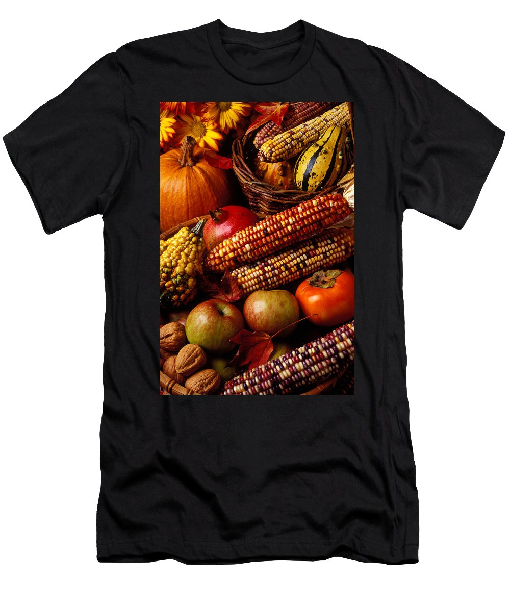 Autumn Men's T-Shirt (Athletic Fit) featuring the photograph Autumn Harvest by Garry Gay