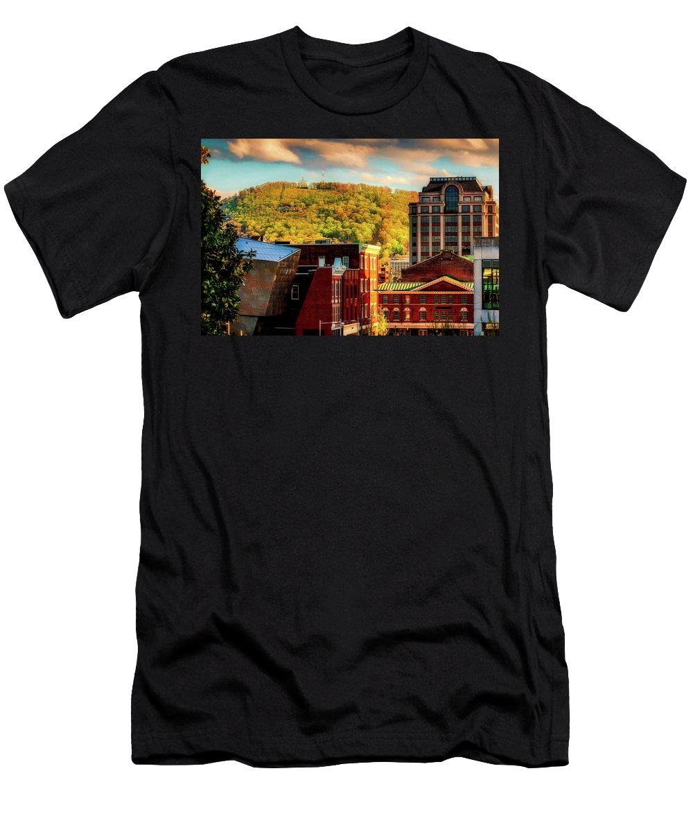 Roanoke Men's T-Shirt (Athletic Fit) featuring the photograph Autumn In Roanoke by Mountain Dreams