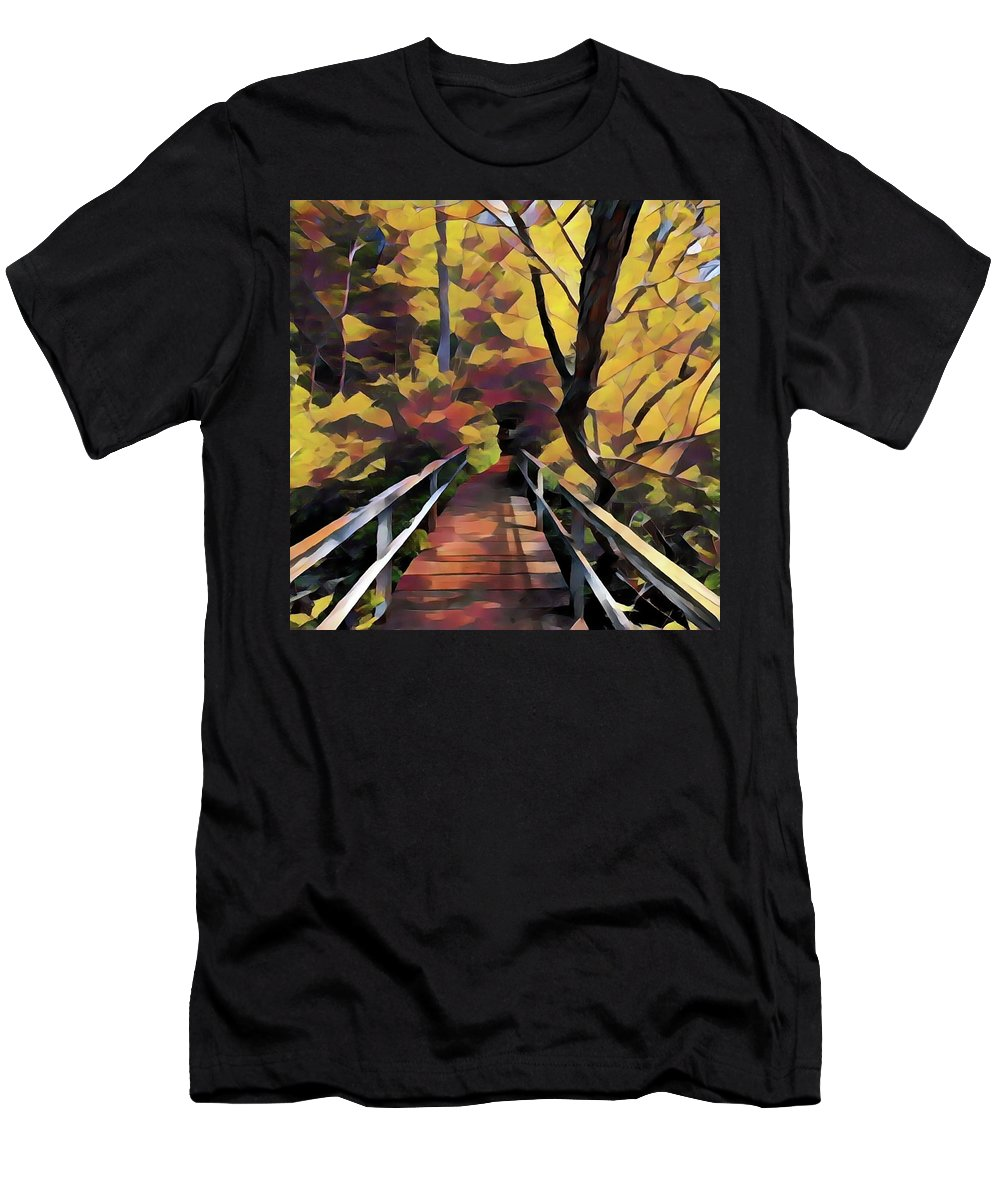Autumn Men's T-Shirt (Athletic Fit) featuring the photograph Autumn by Jackson Pearson