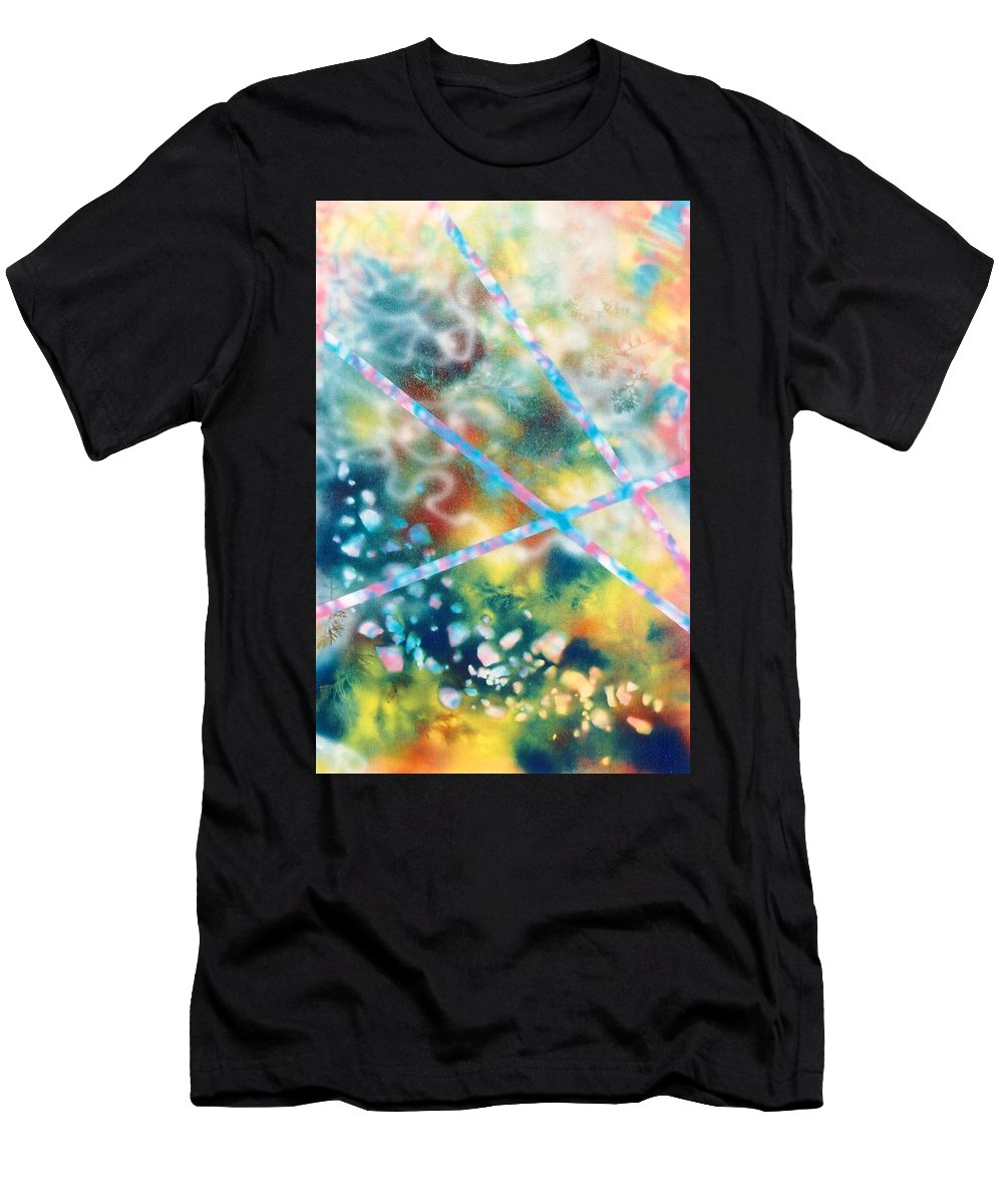 Abstract Men's T-Shirt (Athletic Fit) featuring the painting Autumn by Micah Guenther